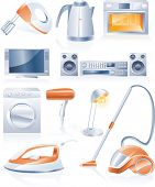 Raster version of household appliances icons