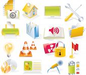 Vector objects icons set. Part 4