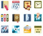 Vector universal square icons. Part 1  (white background)