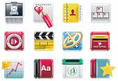 Vector universal square icons. Part 4 (white background)