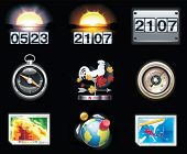 foto of wind-vane  - Vector weather forecast icons - JPG