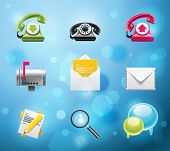 Typical mobile phone apps and services icons. EPS 10 version. Part 1 of 10