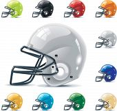 Vector American football / gridiron icon set. Part 2 â?? Helmets