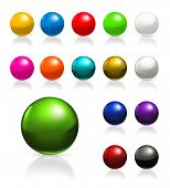 image of traffic light  - Balls icon set - JPG