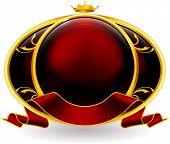 Emblem red eps10 poster