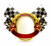 Flag checkered emblem, eps10