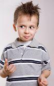 pretty 5 year old boy. funny shoot