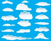 Seamless vector clouds background for design use