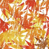 Maple seamless foliage. For easy making seamless pattern just drag all group into swatches bar, and