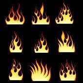 Aantal verschillende brand patronen voor ontwerp gebruik