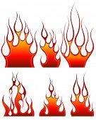 Set van brand vector iconen voor ontwerp gebruik