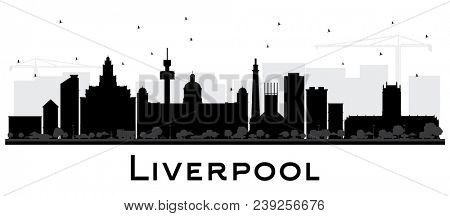 Liverpool City Skyline Silhouette with