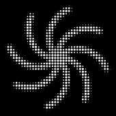 Galaxy Halftone Vector Icon. Illustration Style Is Pixel Iconic Galaxy Symbol On A Black Background. poster