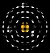 Solar System Halftone Vector Icon. Illustration Style Is Dot Iconic Solar System Symbol On A Black B poster