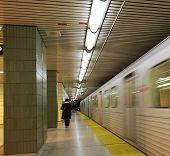 Subway Train Leaving Station