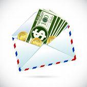 Dollar im Umschlag