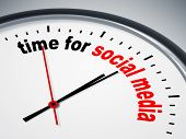 stock photo of count down  - An image of a nice clock with time for social media - JPG