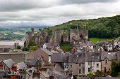 Conwy Castle In Snowdonia, Wales