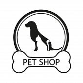 Logo For Pet Shop, Veterinary Clinic, Animal Shelter, Designed In A Modern Style Lines.  Logo Desig poster