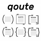 Quotes Icon Vector Set. Quote Marks Vector Symbol. Chat Quote Icon poster