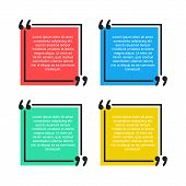 Quote Text Bubble. Commas, Quote, Note, Message And Comment Vector Illustration Design Element poster
