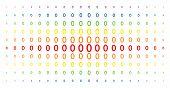 Постер, плакат: Zero Digit Icon Spectrum Halftone Pattern Vector Zero Digit Items Are Arranged Into Halftone Matrix