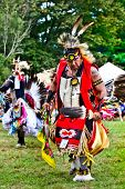 YORKTOWN HEIGHTS, NY - SEPTEMBER 25: Unidentified Native American Indian man dances at the FDR  Pow
