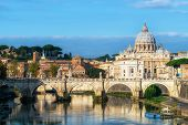 Rome Skyline With St Peter Basilica Of Vatican poster