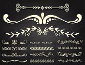 Vintage Book Divider Shape Text Separator Decorative Typography Ornament Design Elements Line Frame  poster