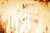 Grungy Rusted Metal Surface In Orange Tone. Abstract Background And Texture. poster