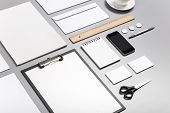 Photo. Template For Branding Identity. For Graphic Designers Presentations And Portfolios. Identity poster