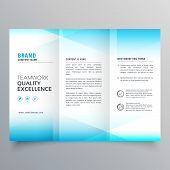 Modern Business Trifold Brochure Design In Minimal Style poster