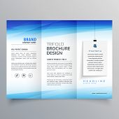 Elegant Trifold Brochure Vector Design Illustration Template poster