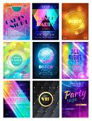 Party Vector Pattern Disco Club Or Nightclub Poster Background And Night Clubbing Or Nightlife Backd poster