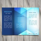 Trifold Polygonal Shapes Brochure Vector Design Illustration poster