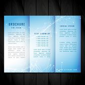 Blue Trifold Brochure Vector Design Illustration Template poster