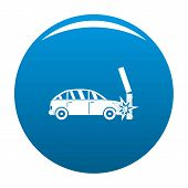 Crashed Pillar Icon. Simple Illustration Of Crashed Pillar Vector Icon For Any Design Blue poster