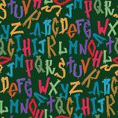 Hand Drawn Grunge Font Paint Symbol Design Detailed Vector Alphabet Graffiti Text Brush Graphic Ink. poster