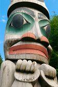 Alaska Totem Pole Face