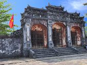 Dai Hong Mon Gate at Ming Mang Tomb - Hue, Vietnam
