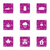 Spontaneous Icons Set. Grunge Set Of 9 Spontaneous Vector Icons For Web Isolated On White Background poster