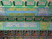 China Forbidden City Painted Green Dragon Beams