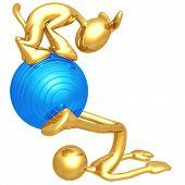 Pilates Physio Ball With Dog