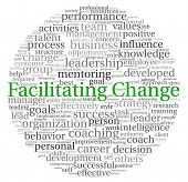 stock photo of change management  - Facilitating Change concept in word tag cloud on white background - JPG
