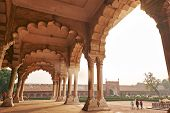 Arches Of Diwan I Am Of Agra Fort, Agra, India, 01.12.2019 poster