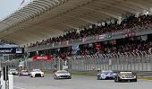 SEPANG - JUNE 10: GT300 cars race on the track at the 2012 Autobacs SUPER GT Series Round 3 on June
