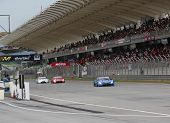 SEPANG - JUNE 10: GT500 cars race on the track at the 2012 Autobacs SUPER GT Series Round 3 on June
