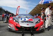 SEPANG - JUNE 10:The Honda HSV-010 car of Weider Honda Racing Team sits on the start grid the 2012 A