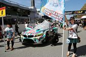 SEPANG - JUNE 10: Grid girls pose with of the BMW Z4 GT3 car of GSR&Studie with TeamUKYO on the star