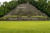 Jaguar Temple At Lamanai Archaeological Reserve, Orange Walk, Belize, Central America. poster